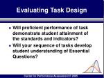 evaluating task design108