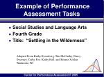 example of performance assessment tasks