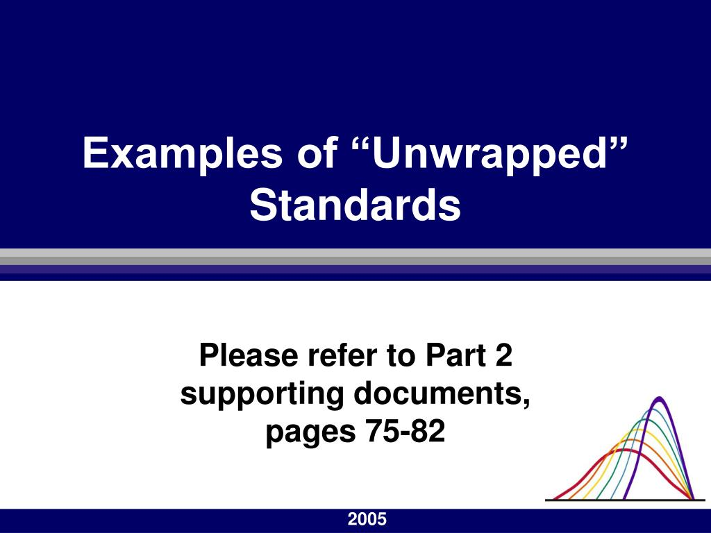 "Examples of ""Unwrapped"" Standards"