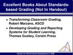 excellent books about standards based grading not in handout