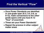 find the vertical flow
