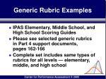 generic rubric examples