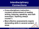 interdisciplinary connections111