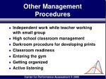 other management procedures170