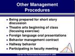 other management procedures171