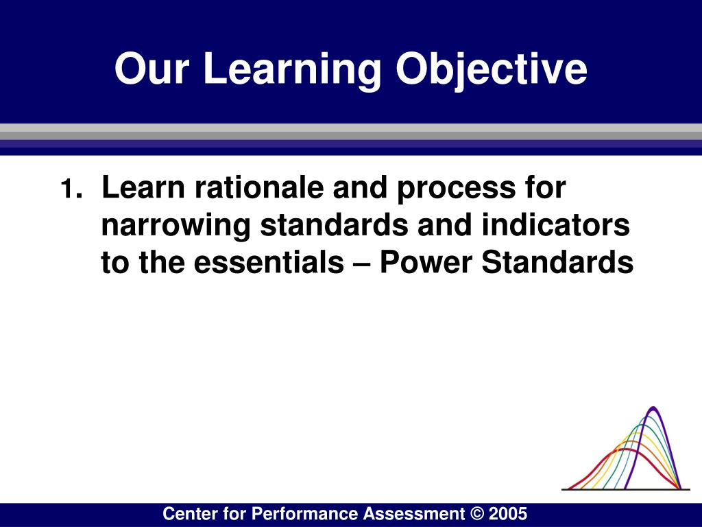 Our Learning Objective