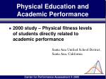 physical education and academic performance