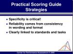 practical scoring guide strategies