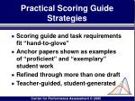 practical scoring guide strategies160
