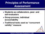principles of performance assessment91