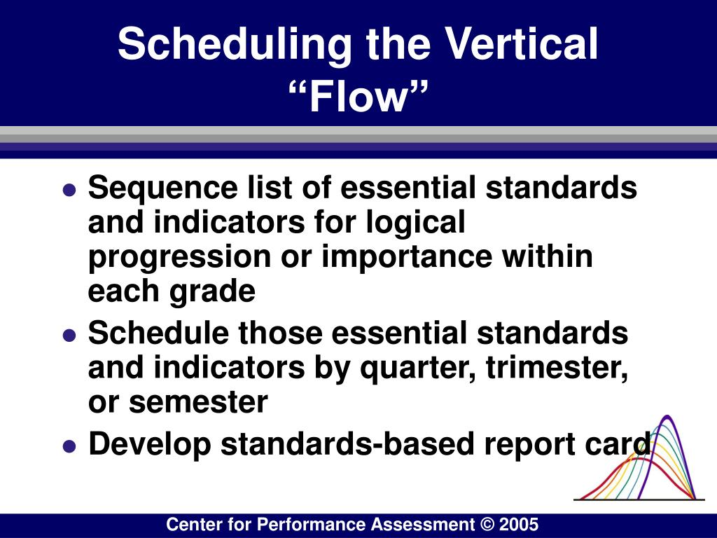 "Scheduling the Vertical ""Flow"""