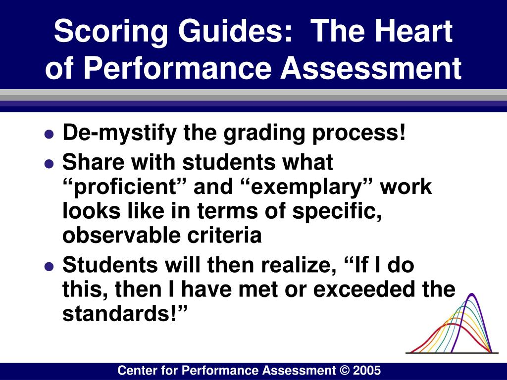 Scoring Guides:  The Heart of Performance Assessment