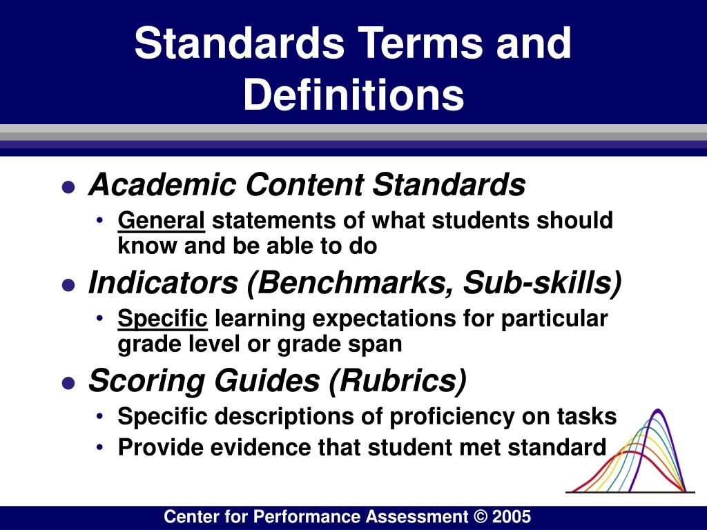 Standards Terms and Definitions
