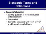 standards terms and definitions52