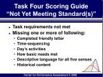 task four scoring guide not yet meeting standard s