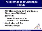 the international challenge timss