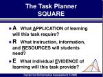 the task planner square103
