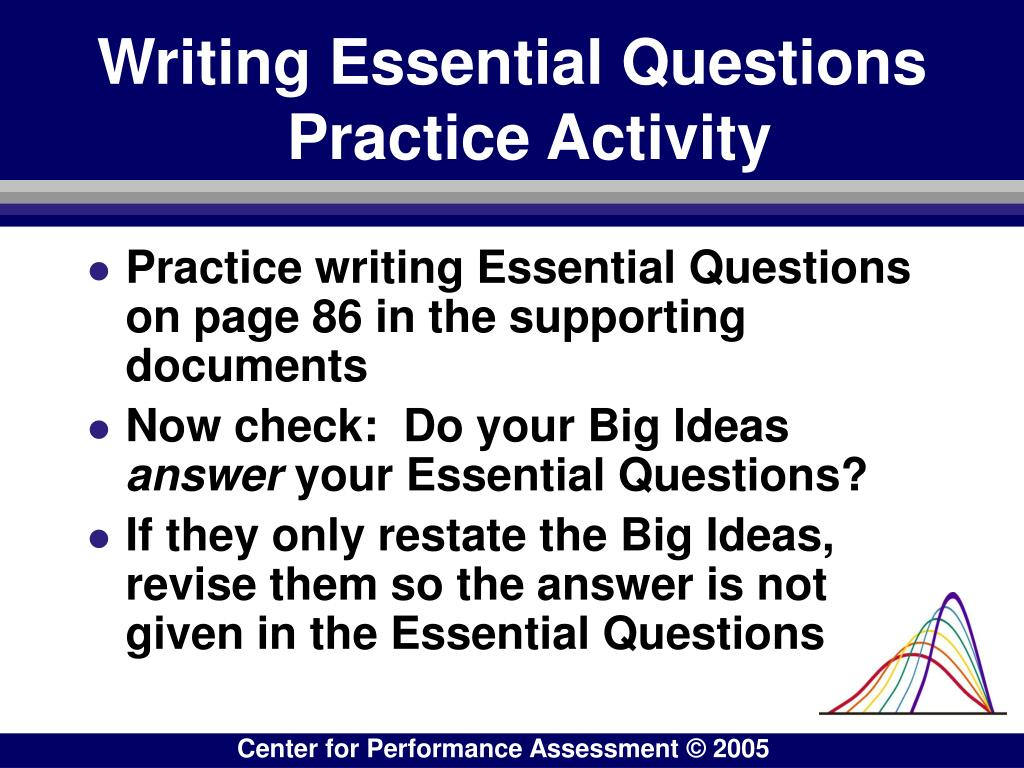 Writing Essential Questions