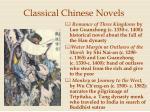 classical chinese novels