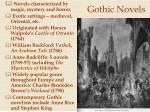 gothic novels