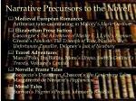 narrative precursors to the novel1
