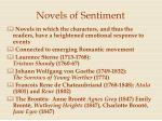 novels of sentiment