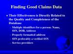 finding good claims data1