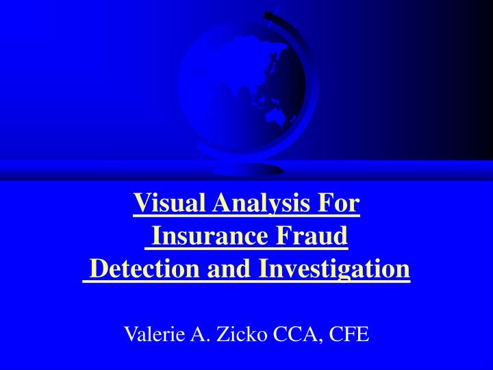 visual analysis for insurance fraud detection and investigation n.