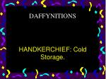 handkerchief cold storage