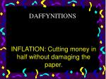 inflation cutting money in half without damaging the paper