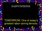 tomorrow one of today s greatest labor saving devices