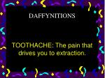 toothache the pain that drives you to extraction
