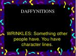 wrinkles something other people have you have character lines