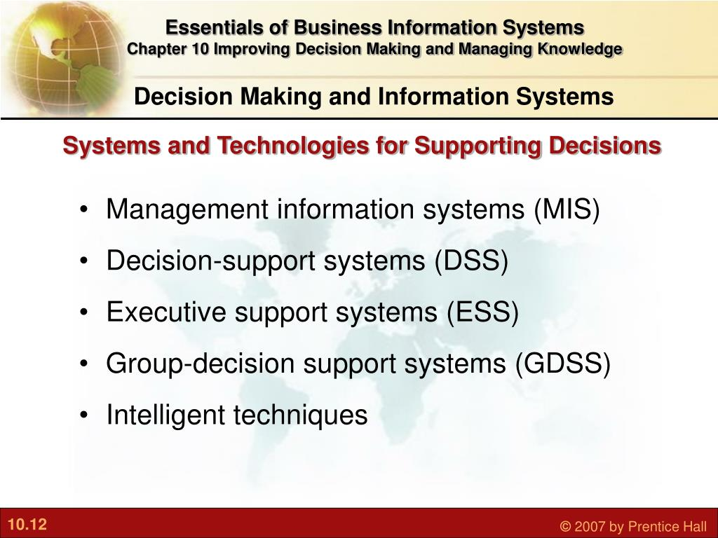 Essentials of Business Information Systems