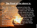the proof of the above is