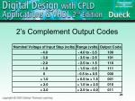 2 s complement output codes