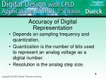 accuracy of digital representation