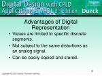 advantages of digital representation