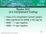 bipolar adc 2 s complement coding