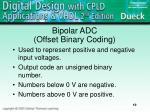 bipolar adc offset binary coding