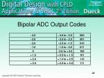 bipolar adc output codes