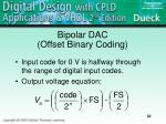 bipolar dac offset binary coding