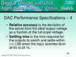 dac performance specifications 4