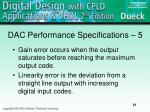 dac performance specifications 5