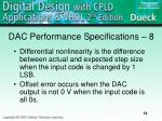dac performance specifications 8