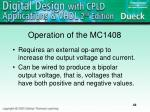 operation of the mc1408