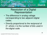 resolution of a digital representation