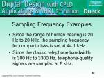 sampling frequency examples
