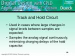 track and hold circuit