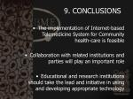 9 conclusions